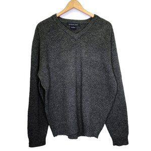 Northern Isles Vintage Lambswool V-neck Sweater L
